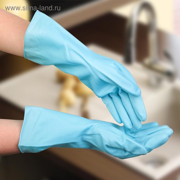 Dense household gloves, latex, 80 g, size L