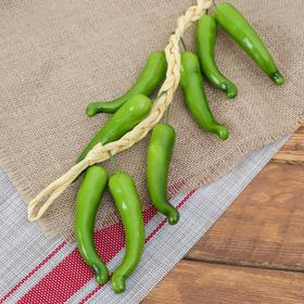 Муляж связка 45 см 12 перцев зеленый