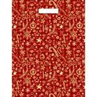"""Пакет """"Подарочный красный"""", полиэтиленовый с вырубной ручкой, 40х31 см, 30 мкм"""