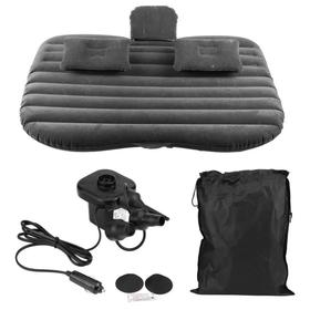 Матрас надувной в автомобиль в комплете; насос 12В и 2 надувные подушки, цвет серый