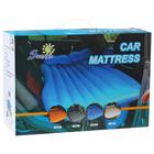 Матрас надувной в автомобиль в комплете; насос 12В и 2 надувные подушки, цвет синий
