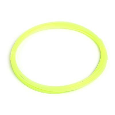 Пластик PLA, для 3Д ручки, длина 5 м, желтый - светится в темноте (УФ лучах)
