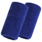 Спортивный напульсник на руку 8х12 см (пара), цвет синий