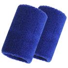 Спортивный напульсник на руку 8х10 см (пара), цвет синий