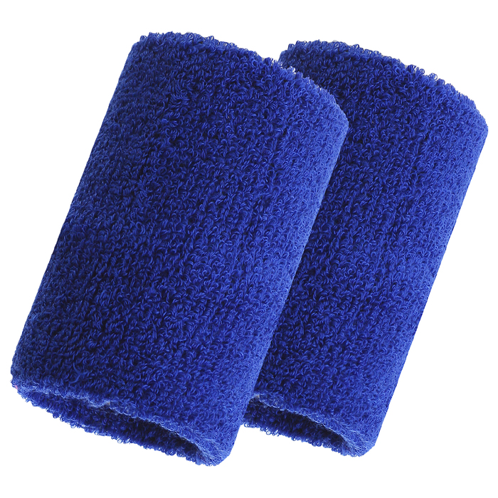 Спортивный напульсник на руку, 8 х 10 см, (пара), цвет синий