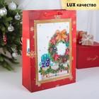 """Пакет ламинированный """"Рождественский венок"""", люкс, 30 х 12 х 43 см"""