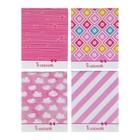 "Notepad A7 40 sheets clip Calligrata ""Patterns"", a cover of cardboard chrome-ersatz"