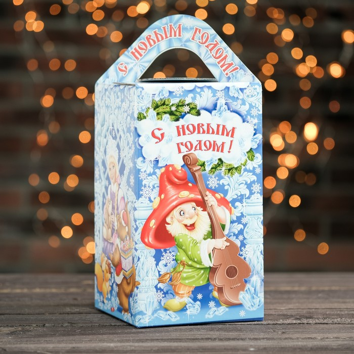 """Подарочная коробка """"Морозко"""", сборная, 15 х 15 х 26 см"""