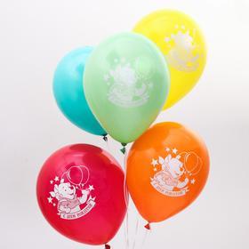 """Воздушные шары «С Днём Рождения», Медвежонок Винни, 5 шт., 12"""" в Донецке"""
