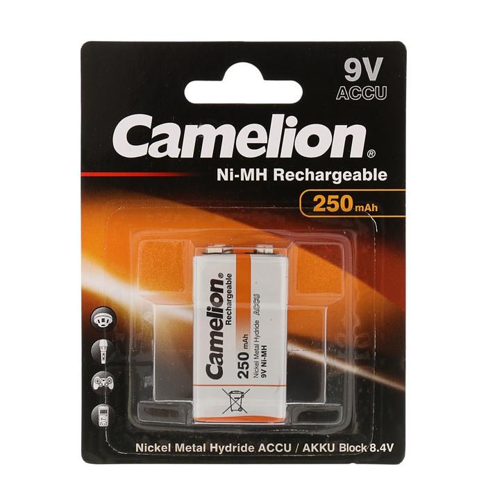 Аккумулятор Camelion, Ni-Mh, HR22-1BL (NH-9V250BP1), 9В, 250 мАч, крона, блистер, 1 шт.