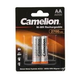 Аккумулятор Camelion, Ni-Mh, AA, HR6-2BL (NH-AA2700BP2), 1.2В, 2700 мАч, блистер, 2 шт.
