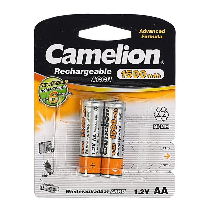 Аккумулятор Camelion, Ni-Mh, AA, HR6-2BL (NH-AA1500BP2), 1.2В, 1500 мАч, блистер, 2 шт.