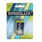 Батарейка алкалиновая Ergolux 6LR61-1BL (6LR61 BL-1), 9В, крона, блистер, 1 шт.