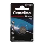 Батарейка литиевая Camelion CR1620-1BL (CR1620-BP1), 3V, блистер, 1 шт.