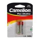 Батарейка алкалиновая Camelion LR03-2BL (LR03-BP2), 1.5В, блистер, 2 шт.