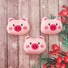 """Декор для творчества - мягкая игрушка """"Свинка"""" размер 1 шт 4*5,5*2 см, набор 3 шт"""