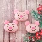"""Декор для творчества - мягкая игрушка """"Свинюшка"""" размер 1 шт 5*5,5*2,5 см, набор 3 шт"""