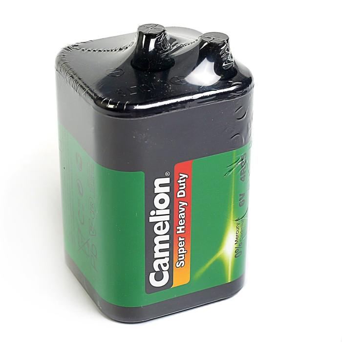 Батарейка солевая Camelion Super Heavy Duty, 4R25-1S (4R25-SP1G), 6.0В, спайка, 1 шт.