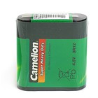 Батарейка солевая Camelion Super Heavy Duty, 3R12-1S (3R12-SP1G), 4.5В, спайка, 1 шт.