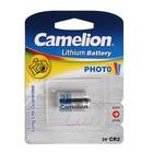 Батарейка литиевая Camelion, CR2-1BL (CR2-BP1), для фото, 3В, блистер, 1 шт.