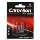 Батарейка алкалиновая Camelion Plus Alkaline, LR1 (MN9100, E90)-2BL, 1.5В, блистер, 2 шт.