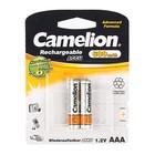 Аккумулятор Camelion, AAA, Ni-Mh, HR03-2BL (NH-AAA600BP2), 1.2В, 600mAh, блистер, 2 шт.