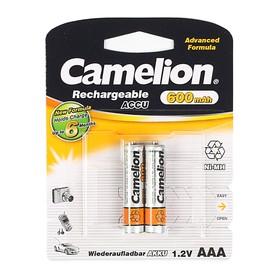 Аккумулятор Camelion, AAA, Ni-Mh, HR03-2BL (NH-AAA600BP2), 1.2В, 600 мАч, блистер, 2 шт.