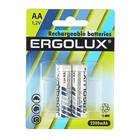 Аккумулятор Ergolux, AA, Ni-Mh, HR6-2BL (NH-AA2200BP2), 1.2В, 2200mAh, блистер, 2 шт.