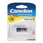 Батарейка литиевая Camelion, CR123A-1BL (CR123A-BP1), для фото, 3В, блистер, 1 шт.
