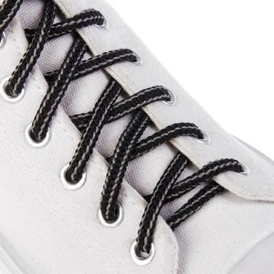 Шнурки с круглым сечением, d=4,5мм, 110см, цвет чёрный