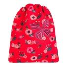 Мешок для обуви 355*430 мм Jeune Premier для девочки «Цветы с Бабочкой» красный