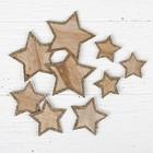 "Декор ""Звёзды"", набор 9 шт., размер: 7 × 7; 5 × 5; 4 × 4 см"