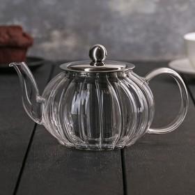 Чайник заварочный «Диана», 600 мл, 18×12×9,5 см, с металлическим ситом
