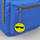 """Reflective element """"Smiley glasses"""", double-sided, d = 5.3 cm, color yellow"""