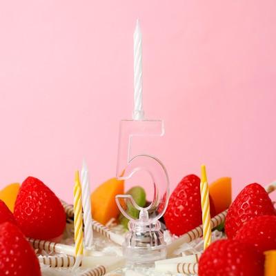 Свеча светодиодная «Цифра 5», со свечками