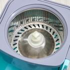 Набор для уборки: ведро на колёсиках с металлической центрифугой 14 л, швабра, запасная насадка из микрофибры, цвет МИКС - фото 4644068