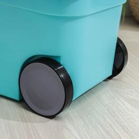 Набор для уборки: ведро на колёсиках с металлической центрифугой 14 л, швабра, запасная насадка из микрофибры, цвет МИКС - фото 4644072