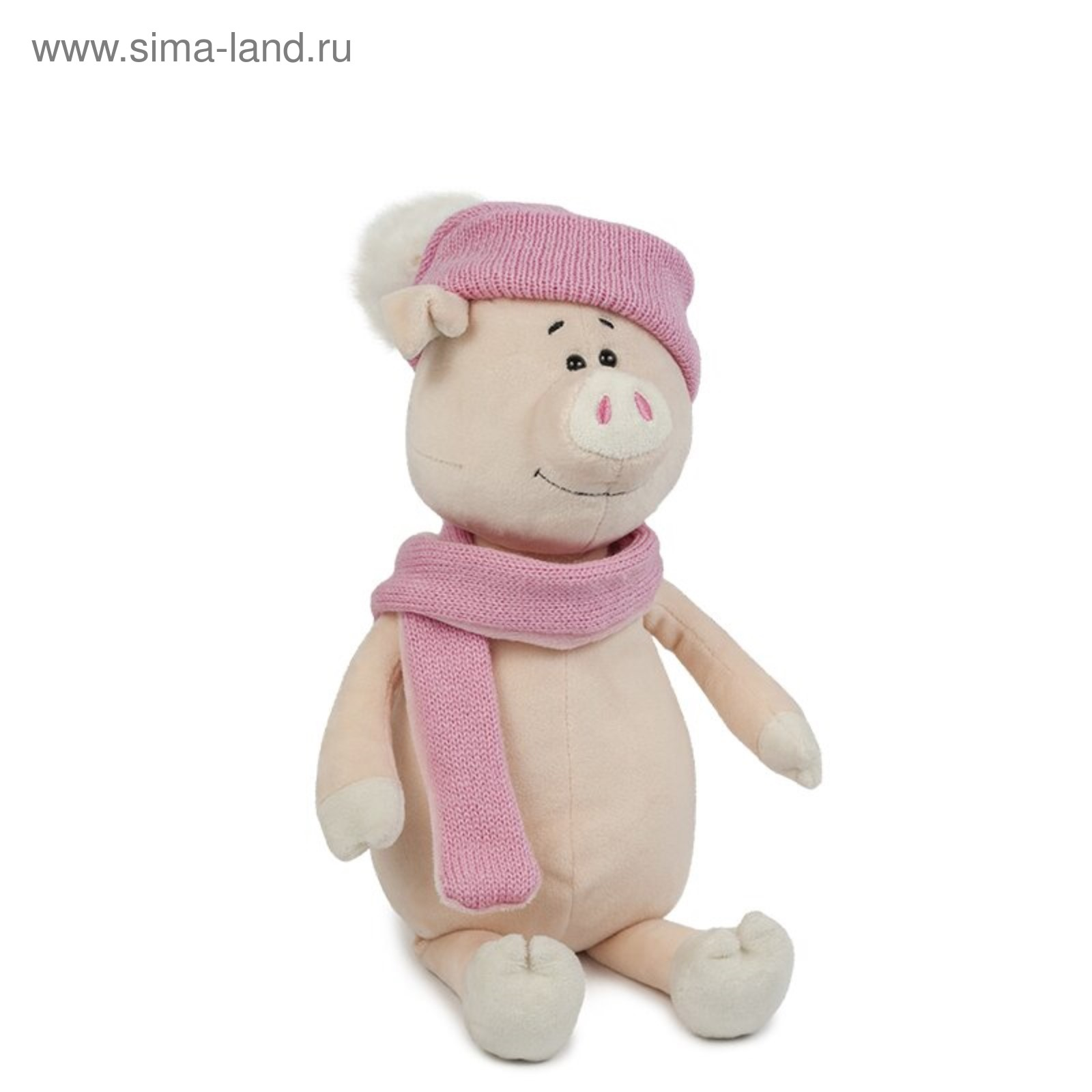 Мягкая игрушка «Свинка Глаша» в шапке и шарфе, 28 см (3851177 ... b419f93d9e0
