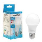 Лампа светодиодная Smartbuy, А60, Е27, 7 Вт, 6000 К