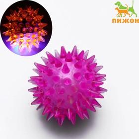 Мяч светящийся мини для кошек, 3,5 см, микс цветов