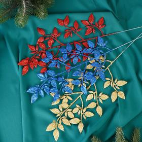 "Decor glitter ""Twig with leaves"" 15*30 cm mix"