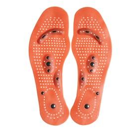 Стельки для обуви, универсальные, массажные, дышащие, 35-46 р-р, пара, цвет коричневый