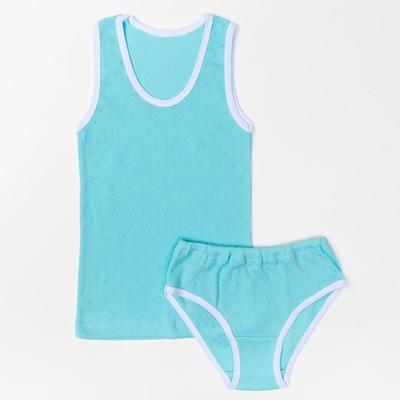 Комплект для девочки(майка, трусы), 09602-04, цвет микс, рост 122 см