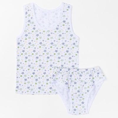Комплект для девочки(майка, трусы), 09602-10, цвет микс, рост 92 см
