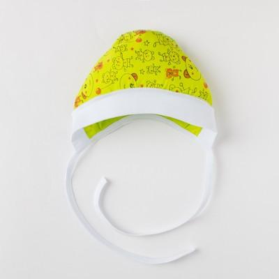 Чепчик детский, размер 38 см, цвет микс 04103-10