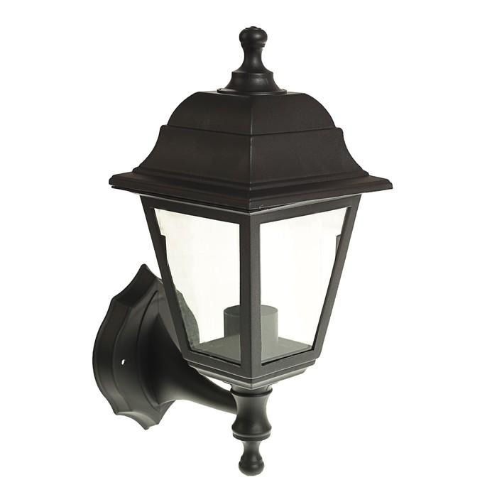 Светильник Luazon 01-1, садово-парковый, четырехгранник, E27, настенный, вверх, черный