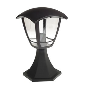Светильник Luazon 02-3, садово-парковый, четырехгранник, E27, стойка, черный