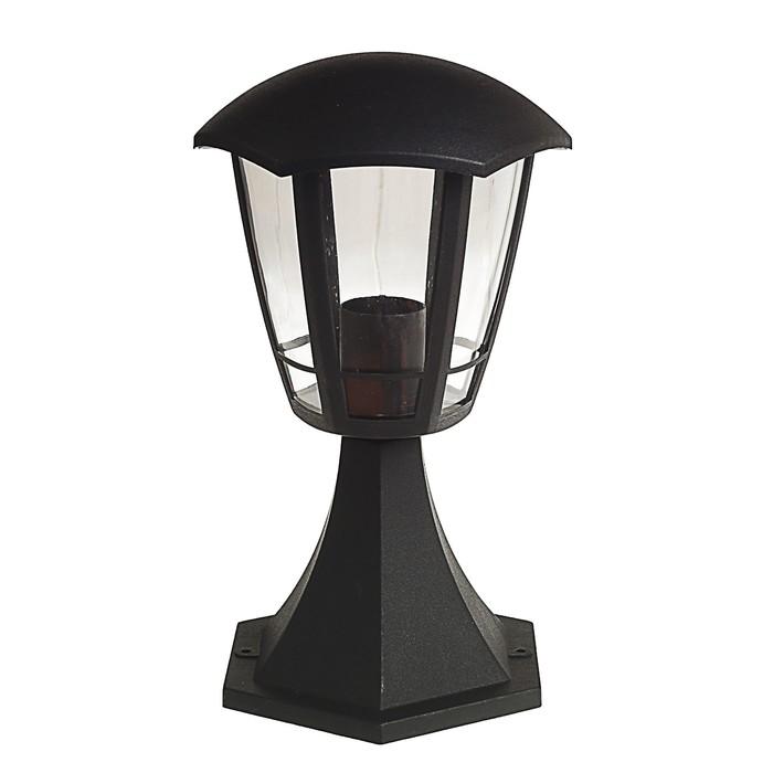 Светильник Luazon 03-3, садово-парковый, шестигранник, E27, стойка, черный