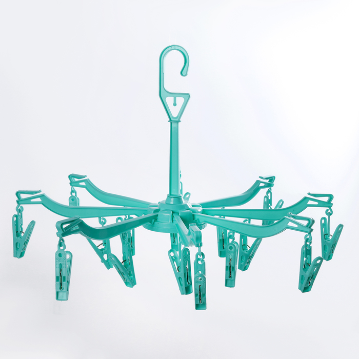 Сушилка для белья подвесная складная 16 прищепок, цвет МИКС