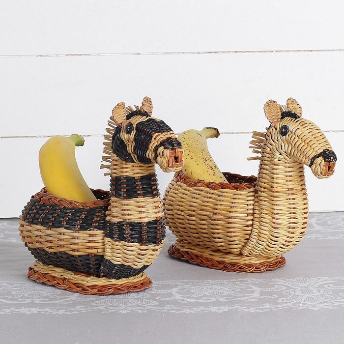 Фруктовница «Лошадка», 20×10×18 см, бамбук
